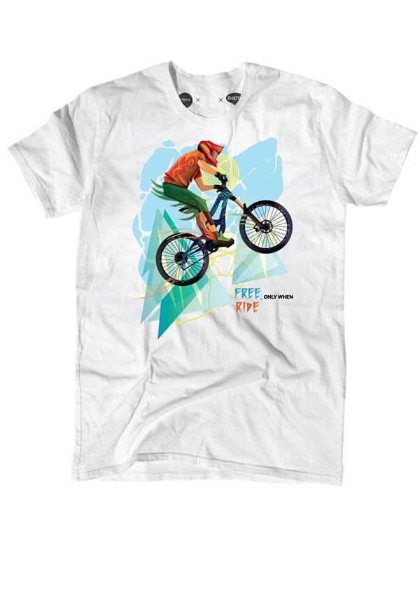 downhill biker on Behance