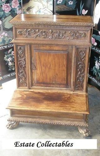 antique prayer bench....