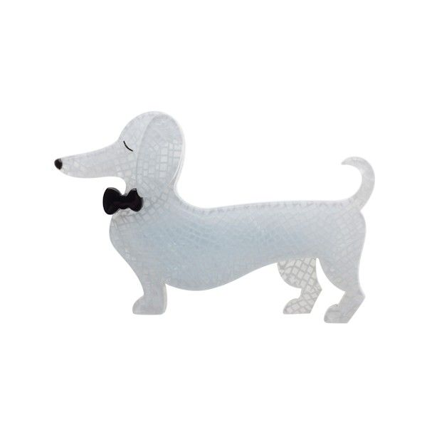 Erstwilder Spiffy the Sausage Dog Brooch available from BarKATtheMeow.com