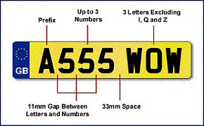 Vehicle Registration Number Plates - Find out how to display your licence plates legally and where to get a number plate made up by a registered supplier in the United Kingdom. Number plates are often called licence plates and they are used for displaying vehicle registration. A motorcycle or car number plate combines several letters and a few numbers in a set sequence and you should not rearrange or alter them if doing so makes them difficult to read.