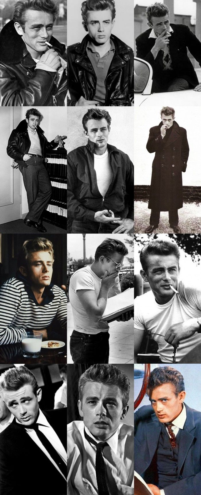 James Dean dressed in a way that you would always see the man before the clothes.