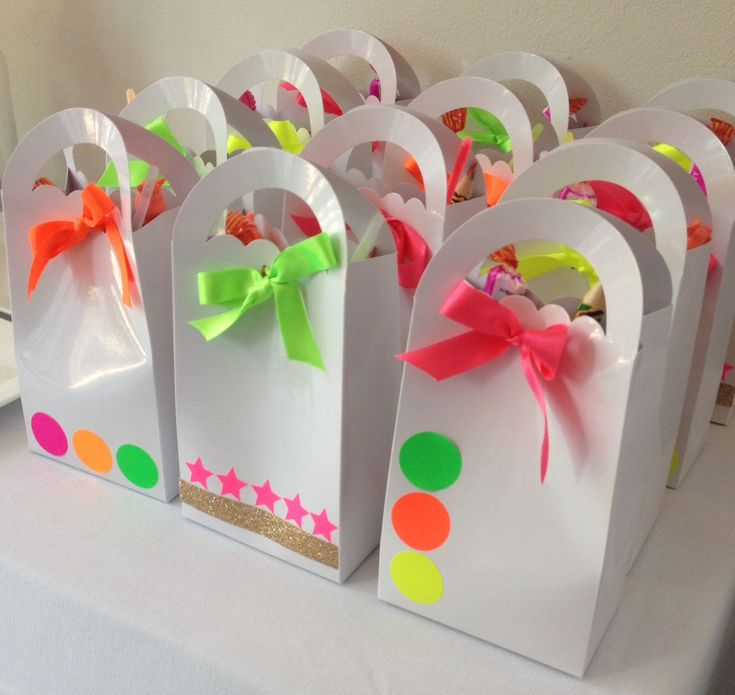 Neon Party Gift Bags PARTY FAVORS!!!