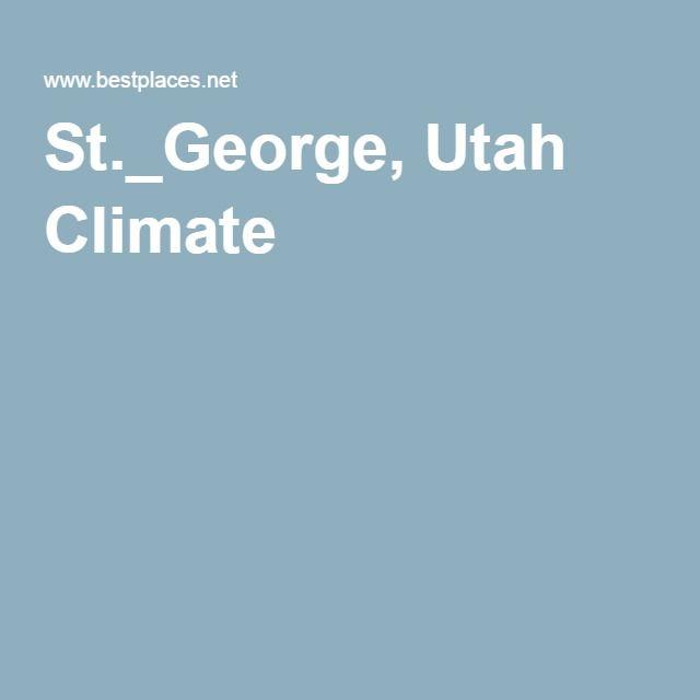 St._George, Utah Climate