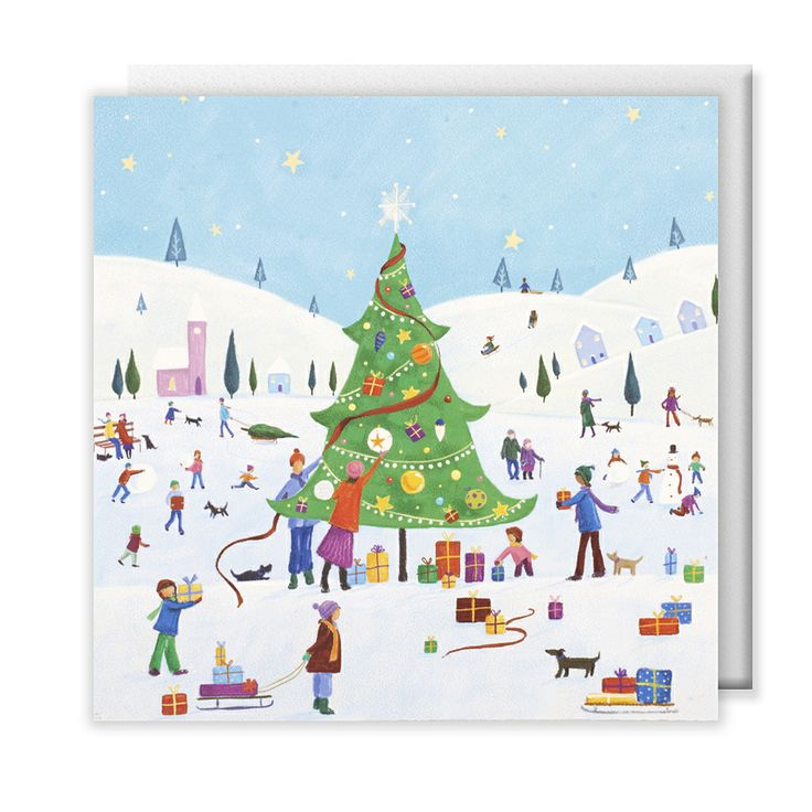 Oxfam Christmas Trees: Community Scene #Christmas #cards, Pack Of 10