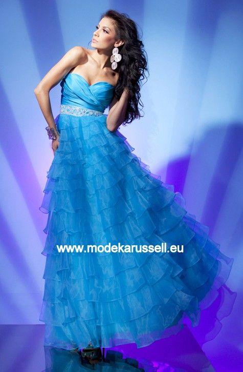 Silvester Kleid Abendkleid in Hell Blau