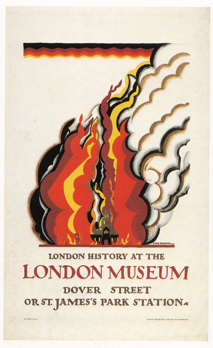 London Museum  E.McKnight Kauffer 1922  underground art pg48 second edition