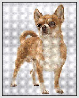 Free Chihuahua Cross Stitch Pattern
