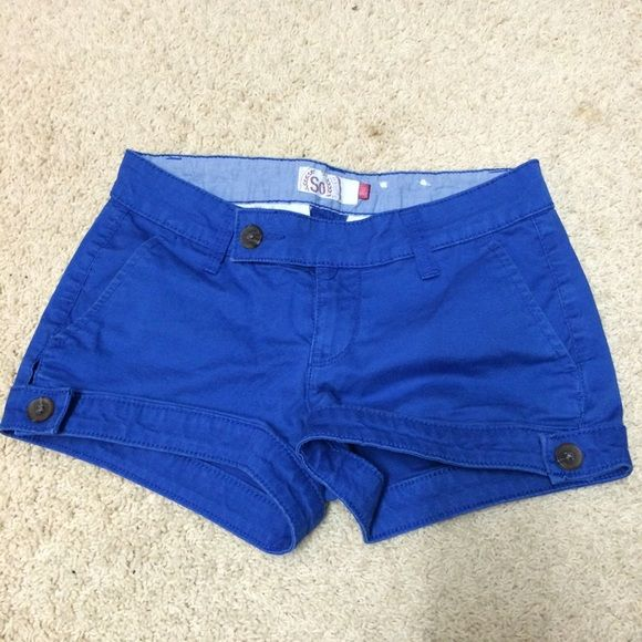 royal blue shorts beautiful blue shorts perfect for spring and summer! size 0, brand So. excellent condition, no flaws Shorts