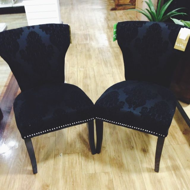 velvet printed parsons chairs by nicole miller decor