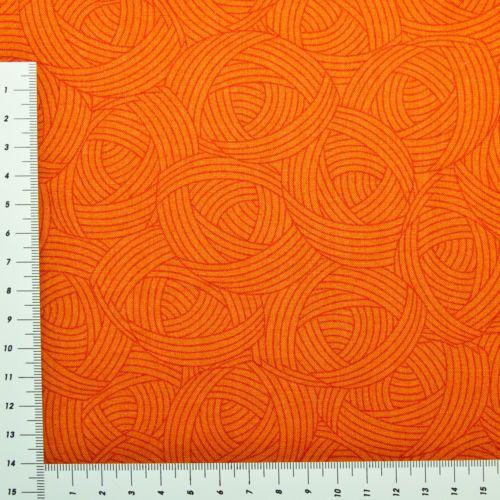 Patchwork-Stoff-Serie-Lola-Orange-dunkel-Ton-in-Ton-100-Baumwolle