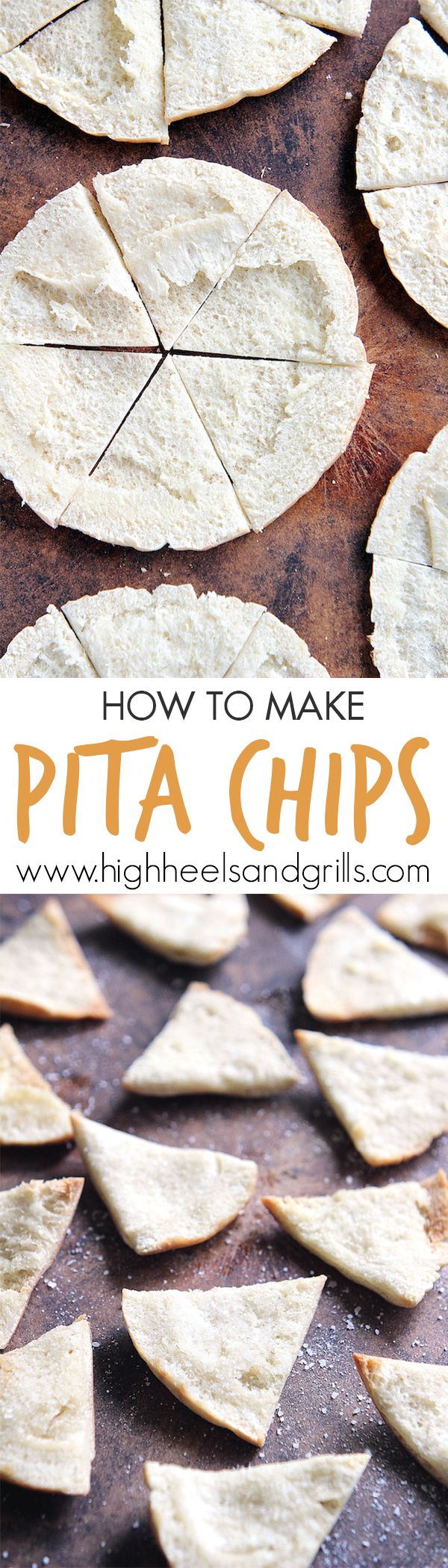 How to Make Pita Chips, the easy way. These are so good and taste way better…