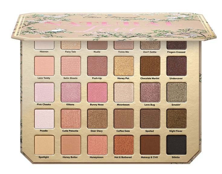 Too Faced Natural Love Eyeshadow Palette ($59) launched at toofaced.com on March 9th and today a teaser mini-preview video popped up on Instagram of it. No