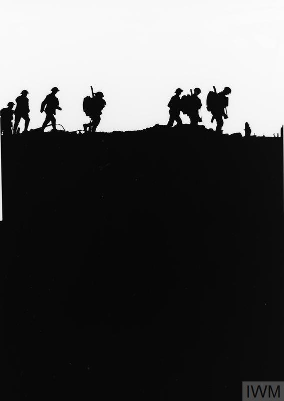 WWI, 5 Sept 1917, Battle of Passchendaele; Men of the East Yorkshire Regiment crossing newly won ground at Frezenburg. ©IWM Q 3014A