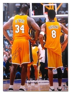 Shaq and Kobe    http://www.gamedaygoods.com/Shaq-ONeal-Autographed-30X40-Photo-_p_56083.html
