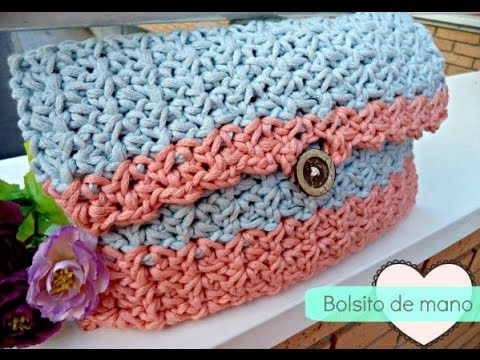 ▶ Bolso de mano de ganchillo - Easy Crochet HandBag - Tutorial paso a paso - YouTube