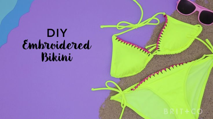 Upgrade your bikini by following this style DIY embroidery video tutorial.