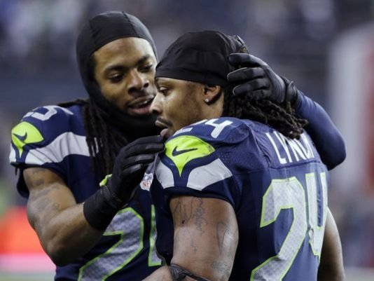 Richard Sherman defends Marshawn Lynch's unwillingness to speak with the media.