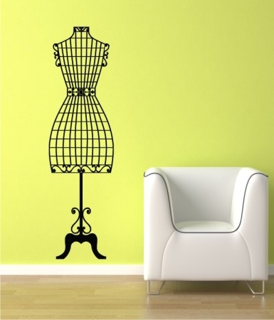 Vintage Dress Form- Wall DecalWall Decal