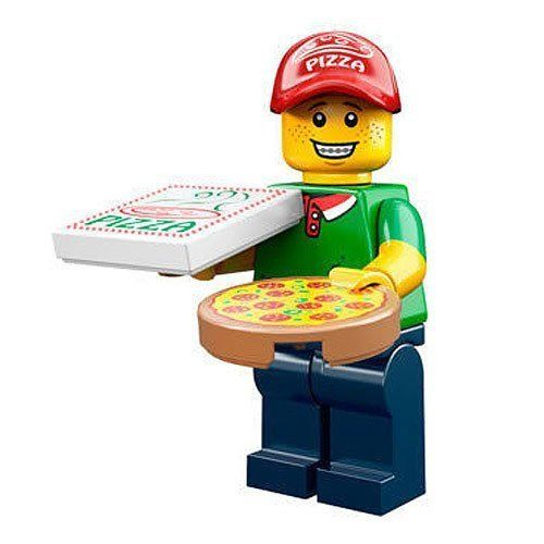 Lego Minifigure - Series 12 - Pizza Deliver Man - 71007
