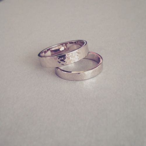 14kt White Gold Wedding Rings