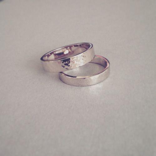 14kt White Gold Wedding Rings