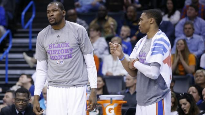 Durant denies rift with Thunder team-mate Westbrook  **People always assume!!