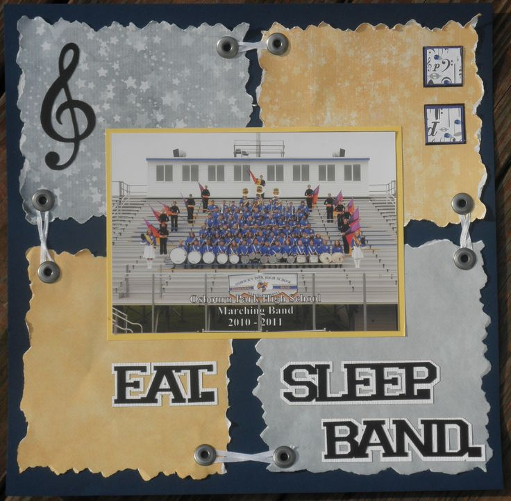 Marching band cover page scrapbook com