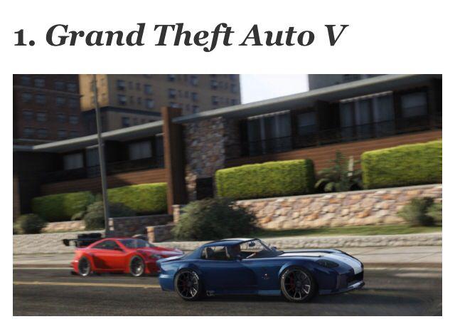 1. Grand Thief Auto V