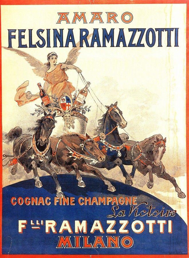 Vintage Italian Posters ~ Ramazzotti #illustrator #italian #posters