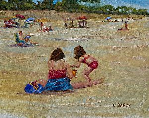 Beach Bonding by Cathy Barry