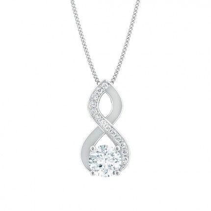Felicita Round Brilliant Diamond Necklace in 18kt White Gold