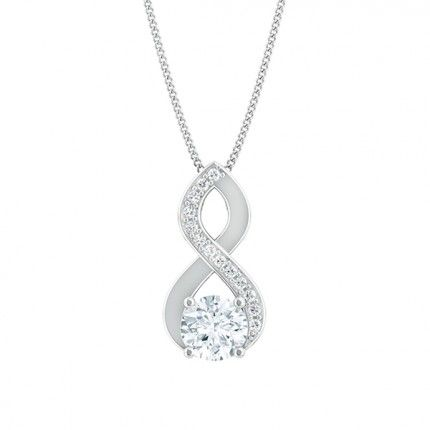 Felicita Round Brilliant Diamond Necklace in 18kt White Gold