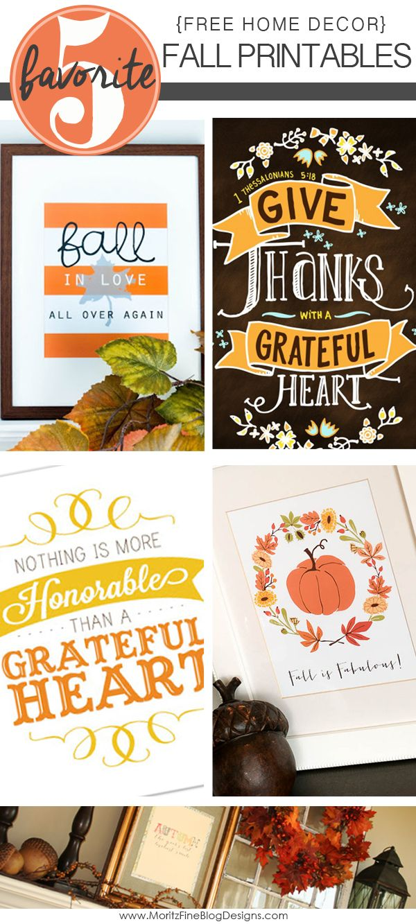 Free Fall Home Printables ---It's really only 4 printables because one of them is no longer available