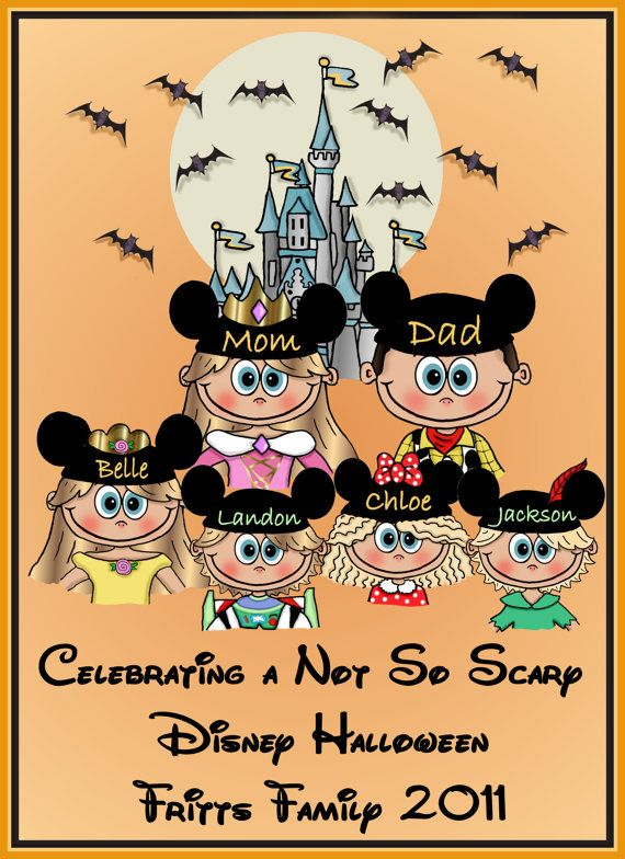 DISNEY FAMILY VACATION Halloween Custom by togs4sprogs on Etsy, $25.99