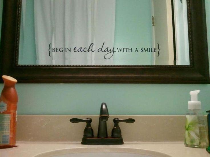 Funny Bathroom Mirror Quotes best 25+ bathroom decals ideas on pinterest | bathroom wall decals