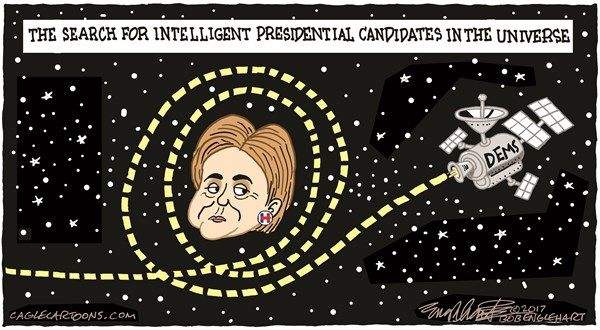 Bob Englehart - CagleCartoons.com - Hillary's Back - English - hillary clinton,wiener,2016,presidential candidate,Democrats,Im with her,clinton,podesta,2020 presidential race, democratic party