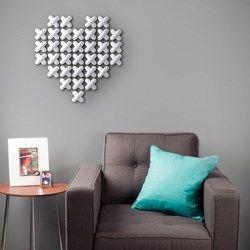 Wow! Deze wil ik!!! Umbra Cross Stitch Borduur Muurdecoratie - Wit