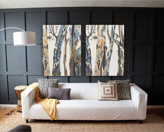 Extra Large Wall Art Diptych Set Oversized Canvas Art Print Office Wall Art Trees Bedroom Living Dining Room Entryway Above Couch Sofa Living Room Art Large Canvas Art Large Canvas Wall