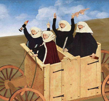 HILARIOUS RENAISSANCE ART GIFS Click to enlarge image crunk-nuns.gif  Scorpion Dagger.