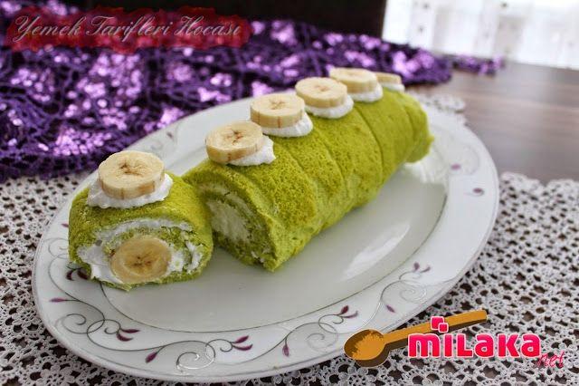 Puf Puf Yumuşacık Rulo Pasta ( 20 dakika da hazır) #HamurİşiTarifleri #ıspanaklıçileklirulopasta