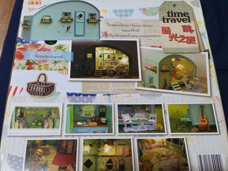 Casas De Boneca de Madeira DIY Casa de Bonecas Em Miniatura de Móveis casa de bonecas Kit Brinquedos para crianças boneca de Presente de viagem no Tempo casas A-016 Loja Online   aliexpress móvel