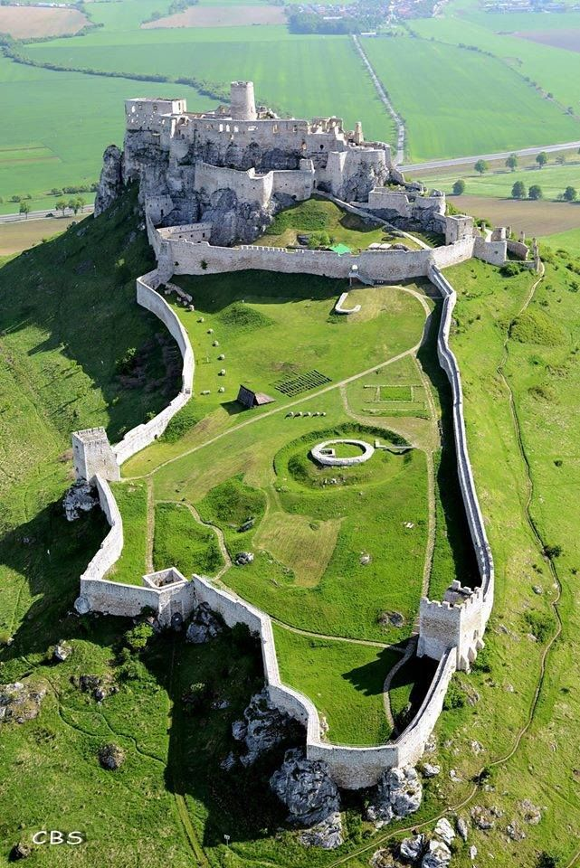 Spiš Castle, Slovakia  - The ruins of Spiš Castle in eastern Slovakia form one of the largest castle sites in Central Europe. The castle is situated above the town of Spišské Podhradie and the village of Žehra, in the region known as Spiš.