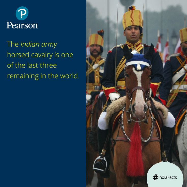 The 61st Cavalry Regiment of the Indian Army gets the honor to lead the January 26th march past every year. Surprisingly, this Regiment is believed to be the largest non-ceremonial horse-mounted cavalry unit remaining in the world.