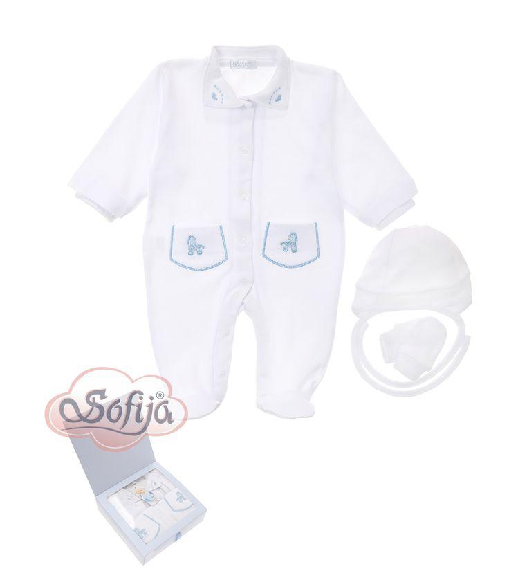 3-częściowy komplet dla dziecka z delikatnej bawełny Supima  www.sofija.com.pl  #babyshower #babygift #kinder #babygeschenk #kids #baby #dziecko #prezent #niemowlak #wyprawka #sofija #ubranka #подарокребенку #ребенок