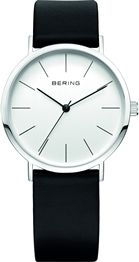 Bering Gents Vintage Slim Black Leather Watch (001-020-02419)
