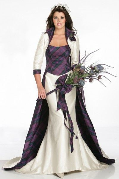 I would love this as a strapless dress! --Heritage dress, part of the Joyce Young Tartan Spirit Wedding collection