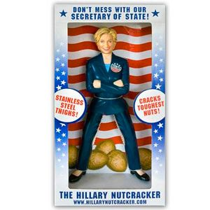 With thighs of steel, Hillary can crack even the toughest nuts!