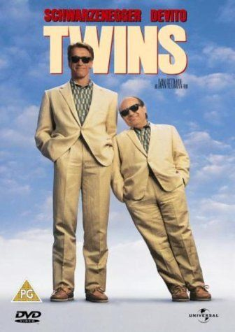 TWINS: Directed by Ivan Reitman.  With Arnold Schwarzenegger, Danny DeVito, Kelly Preston, Chloe Webb. A physically perfect but innocent man goes in search of his long-lost twin brother, who is a short small-time crook.