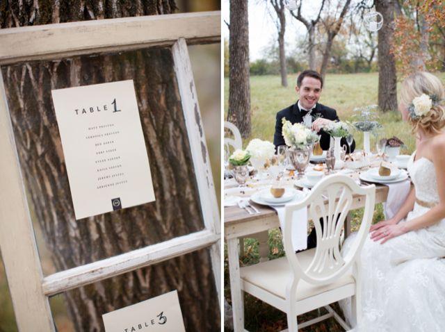 Window seating plan and fall wedding inspiration / ShutterChic Photography