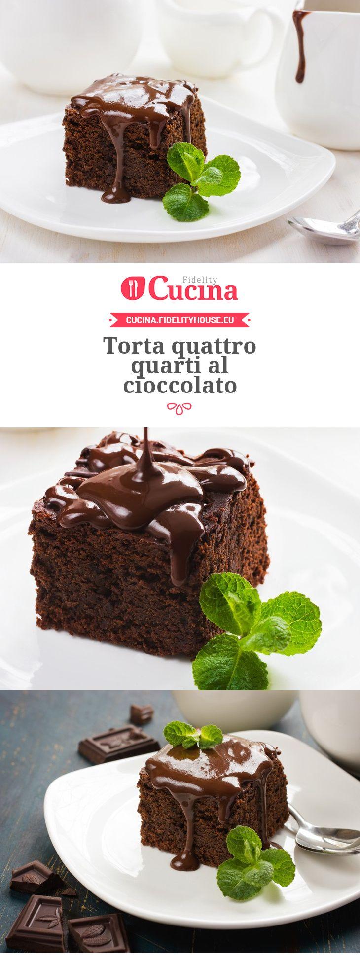 #Torta quattro quarti al #cioccolato